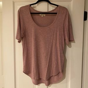 Madewell rose colored T-shirt